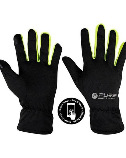 Pure2Improve Běžecké rukavice Purre2Improve S/M žlutá