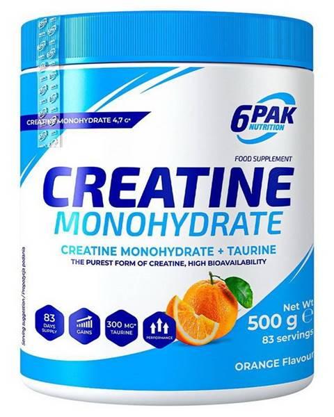 6PAK Nutrition Creatine Monohydrate práškový - 6PAK Nutrition 500 g Grapefruit