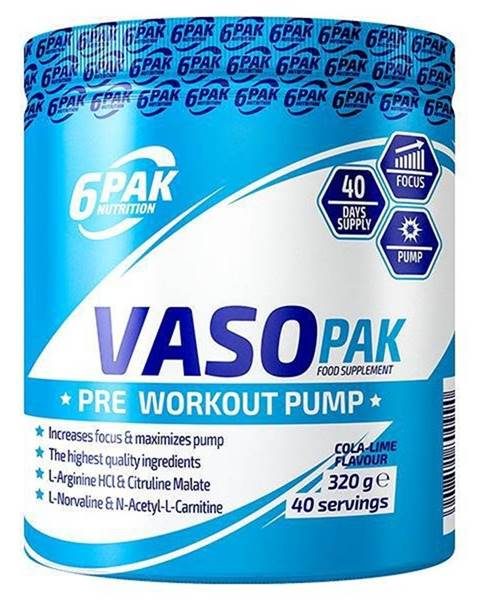 6PAK Nutrition VASO PAK - 6PAK Nutrition 320 g Cola Lime
