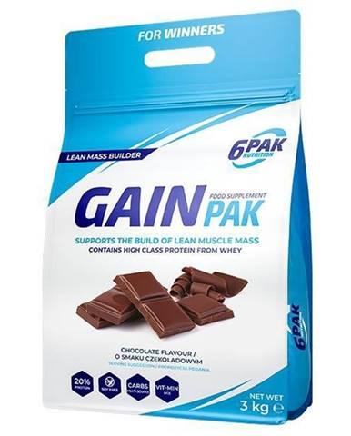 Gain Pak - 6PAK Nutrition 3000 g Chocolate
