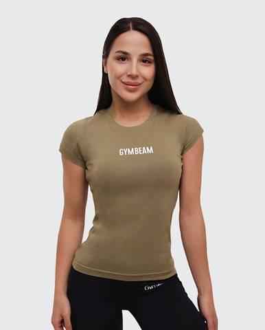 GymBeam Dámske tričko FIT Olive  S