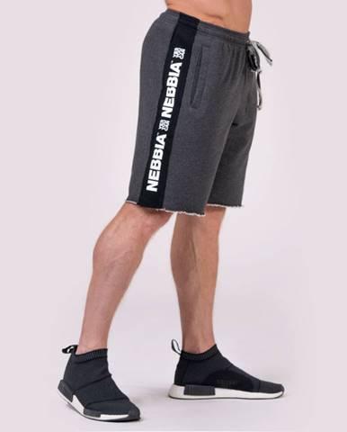 NEBBIA Pánske šortky Lampas Grey  M