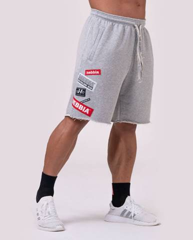 NEBBIA Pánske šortky Logo Tapping Grey  M