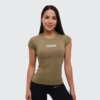 GymBeam Dámske tričko FIT Olive  XS