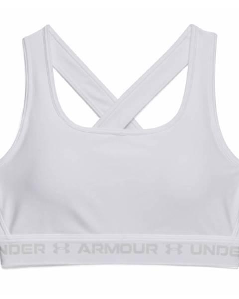 Under Armour Dámska športová podprsenka Under Armour Crossback Mid Bra White - S