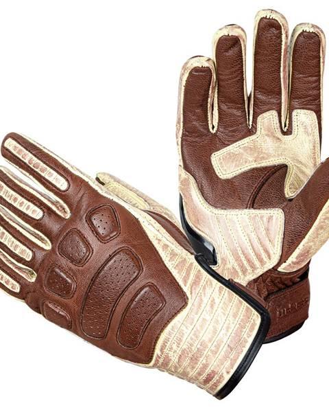 W-Tec Kožené moto rukavice W-TEC Retro Gloves hnedo-béžová - S