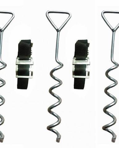 Sada kotviaca  s kovovou sponou (3 ks vrtákov) - trampolína