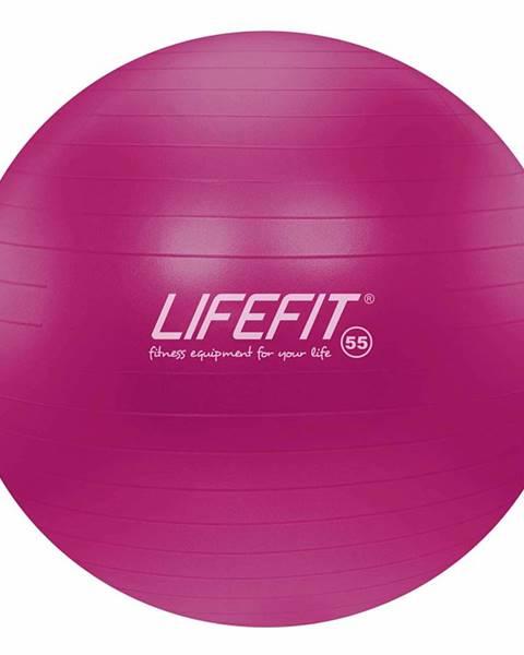 Lifefit Gymnastický míč LIFEFIT ANTI-BURST 55 cm, bordó