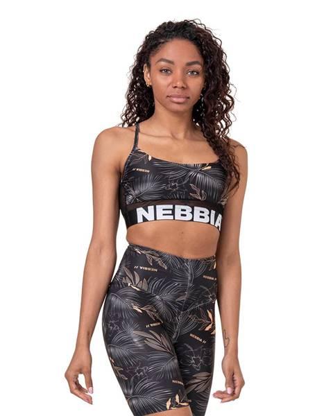 Nebbia NEBBIA Športová podprsenka Earth Powered Black  XS