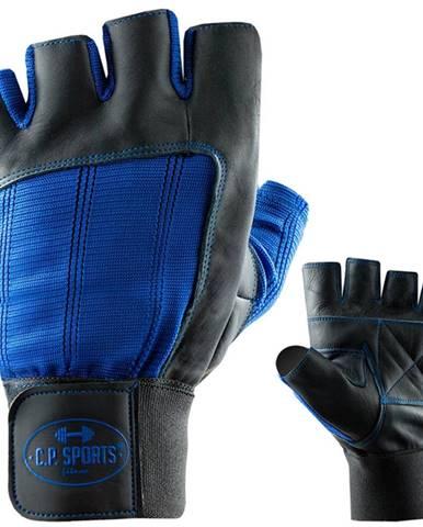 C.P. Sports Fitness rukavice kožené modré  S