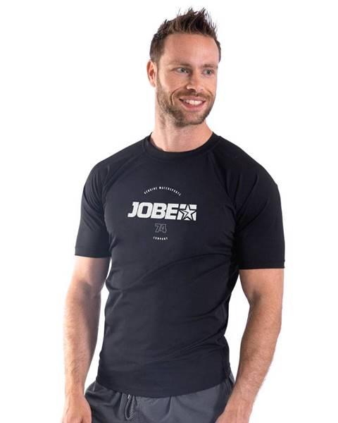 JOBE Pánske tričko pre vodné športy Jobe Rashguard s krátkym rukávom Black - S