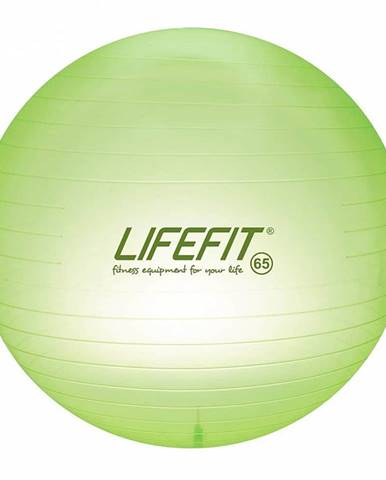 Gymnastický míč LIFEFIT TRANSPARENT 65 cm, sv. zelený