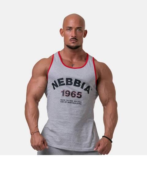 Nebbia NEBBIA Pánske tielko Old school muscle Grey  M