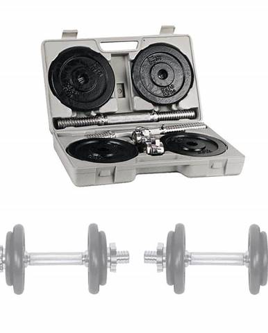 Jednoručky v kufríku inSPORTline set 2x10 kg