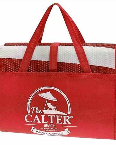 Plážová podložka CALTER - taška, plastová, červená