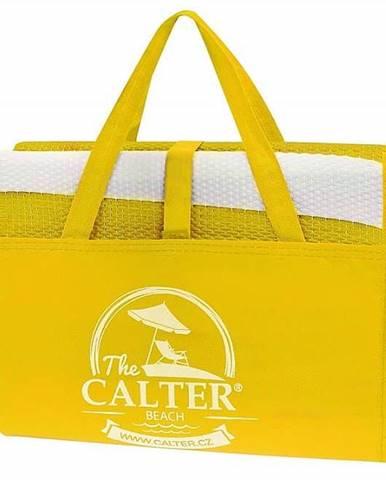 Plážová podložka CALTER - taška, plastová, žlutá