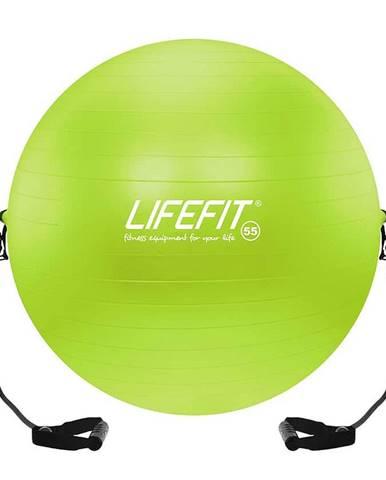 Gymnastický míč s expanderem LIFEFIT GYMBALL EXPAND 55 cm