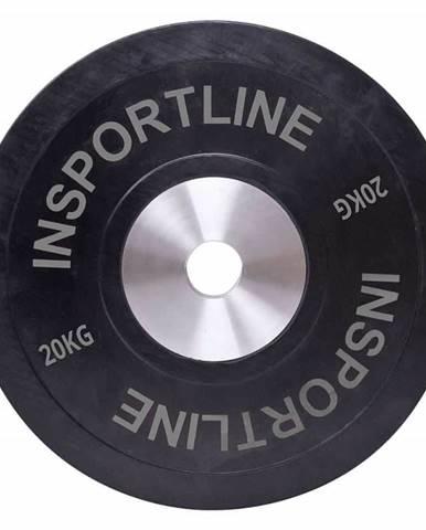 inSPORTline Gumový kotouč inSPORTline Bumper Plate 20 kg