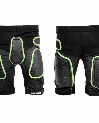Kraťasy s protektormi W-TEC Xator Farba čierno-zelená, Veľkosť XS