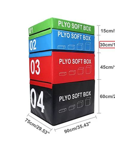 SOFT PLYOBOX SEDCO 90x75x15-60 cm - Modrá