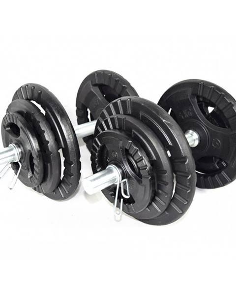 Kawmet Jednoručný nakladací činkový set KAWMET 2x20 kg