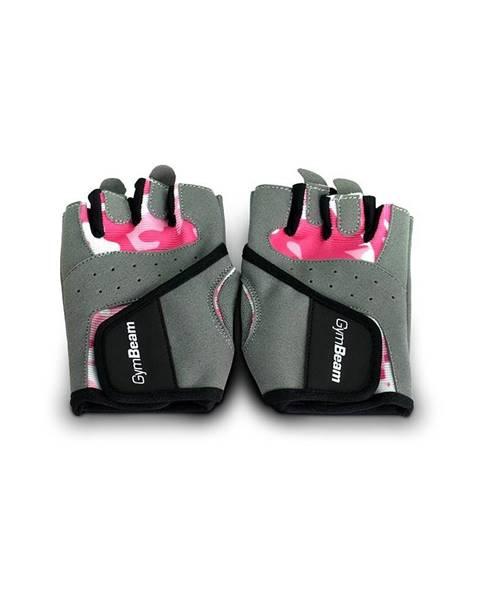GymBeam GymBeam Fitness Dámske rukavice Camo Pink  XS