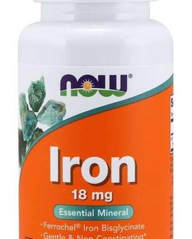 NOW Iron Bisglycinate železo chelát Ferrochel 18 mg 120 kapsúl