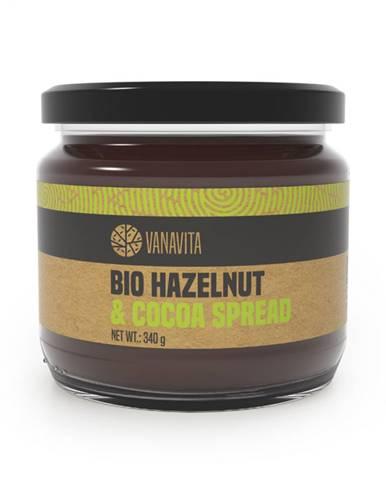 VanaVita BIO Lieskovoorieškový krém s kakaom 340 g