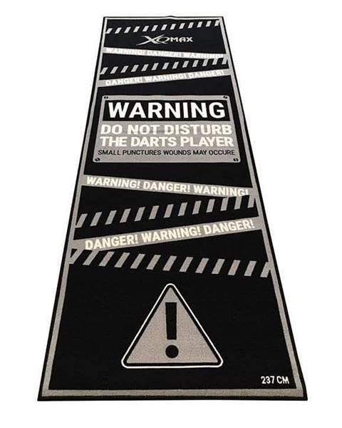 XQ MAX Podložka/koberec na šipky XQ MAX DARTMAT Warning - Černá