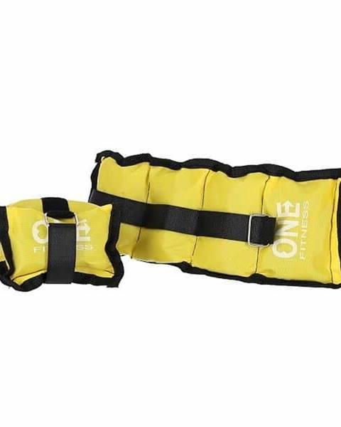 ONE FITNESS Zátěže na zápěstí a kotníky ONE FITNESS WW02 2 x 1,5 kg žluté
