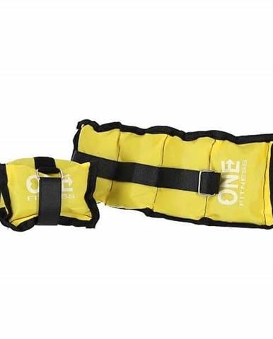 Zátěže na zápěstí a kotníky ONE FITNESS WW02 2 x 1,5 kg žluté