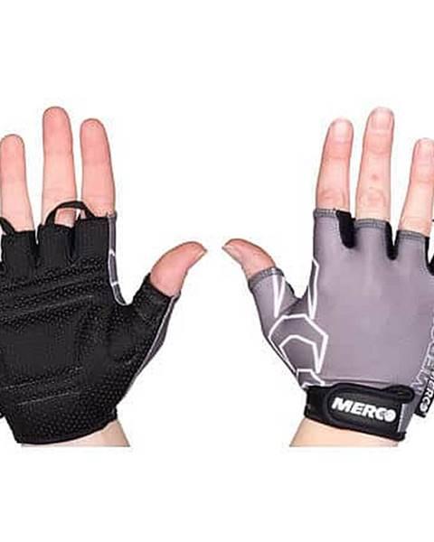 Merco BG Gel 02 cyklistické rukavice šedá-černá Velikost oblečení: XS