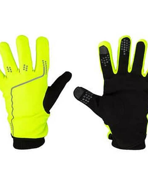 Avento Touchscreen Tip sportovní rukavice žlutá neon Velikost oblečení: S-M
