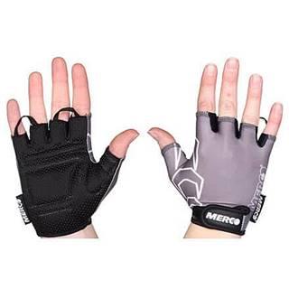 BG Gel 02 cyklistické rukavice šedá-černá Velikost oblečení: XS