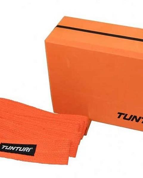 Tunturi Jóga blok oranžová s páskem TUNTURI