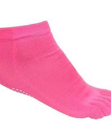 Grippy S1 ponožky na jógu, prstové růžová