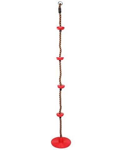 Swing šplhací lano s disky červená