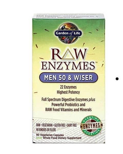 Garden of life RAW Enzymy Men 50 & Wiser - pro muže po padesátce