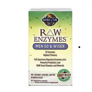 RAW Enzymy Men 50 & Wiser - pro muže po padesátce