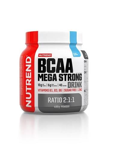 Aminokyseliny Nutrend BCAA Mega Strong Drink (2:1:1) 400g modrá malina