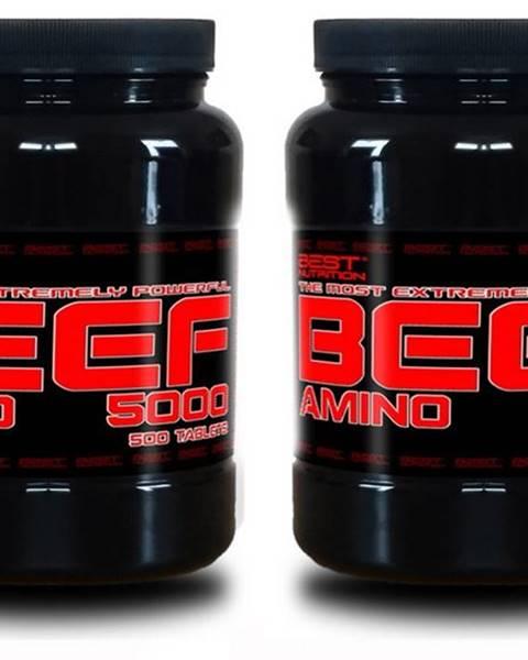 Best Nutrition 1+1 Zadarmo: Amino BEEF 5000 od Best Nutrition 250 tbl + 250 tbl