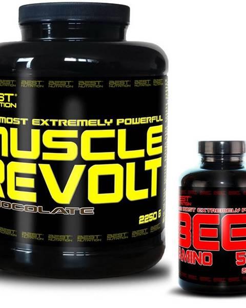 Best Nutrition Muscle Revolt + BEEF Amino Zadarmo - Best Nutrition 2250 g + 250 tbl. Banán