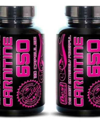1+1 Zadarmo: Carnitine 650 od Best Nutrition 120 kaps. +  120 kaps.
