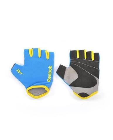 REEBOK FITNESS RUKAVICE Modrá + žlutá