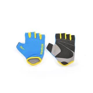 REEBOK Fitness rukavice vel. S Modrá + žlutá