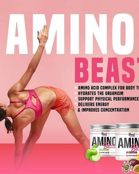 GymBeam Amino Beast - Beast Pink 270 g Green Apple