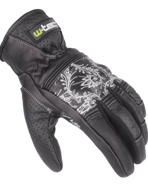 W-Tec Dámske kožené moto rukavice W-TEC Polcique NF-4206 čierno-biela - XS