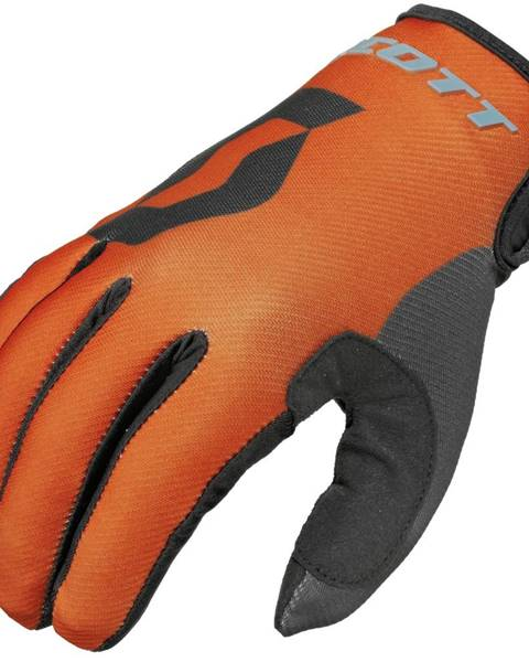 Scott Motokrosové rukavice Scott 350 Track MXVI modro-oranžová - XL