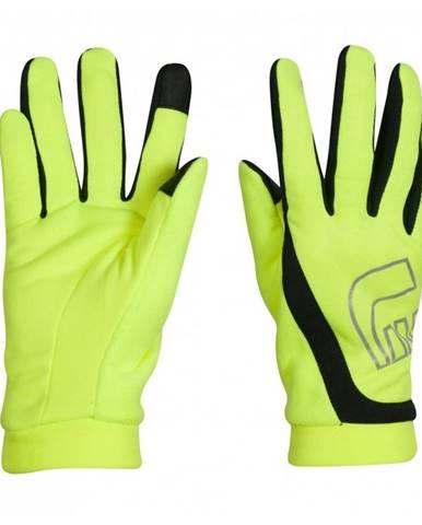 Bežecké rukavice Newline Thermal Gloves Visio neon - XS