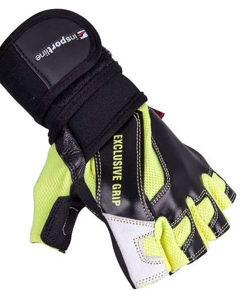Insportline Kožené fitness rukavice inSPORTline Perian čierno-žltá - S